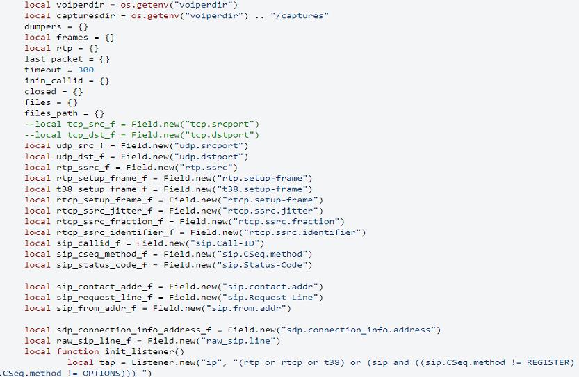 Wireshark Voip Lab/ Lua Scripting